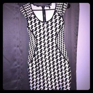 Express Dresses - Women's Express Black and White Sheath Dress